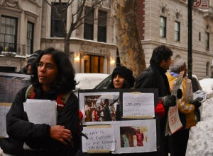 Protest at the NY Consulate, 28th Jan 2011