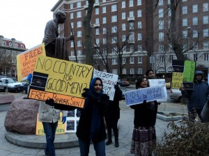 Washington, DC, Protest at Indian Embassy, on MLK Day, 2011