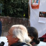 A prominent Hindi writer speaking at the Artists for human rights protest in Defence of Dr Binayak Sen