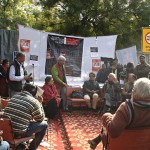 Artists for human rights protest in Defence of Dr Binayak Sen, in New Delhi 15 January 2011